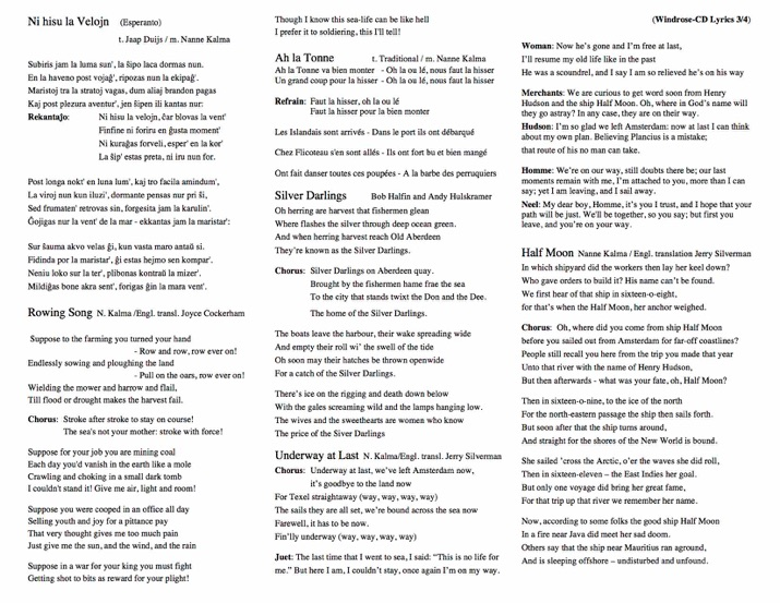 Below The Lyrics Of The Windrose Album By Nanne Ankie